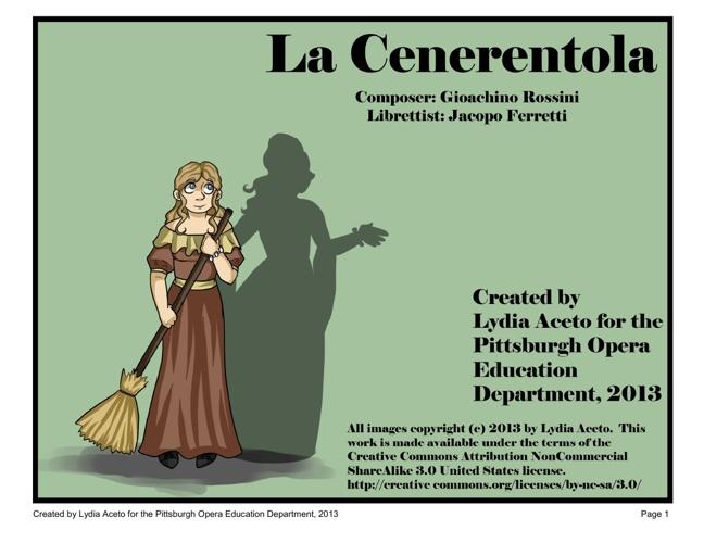 La cenerentola (Cinderella) comic book by Lydia Aceto