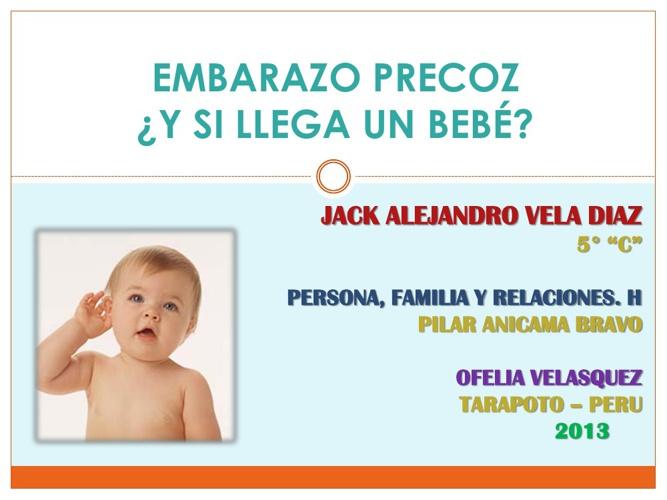 """""""EL EMBARAZO PRECOZ"""""""