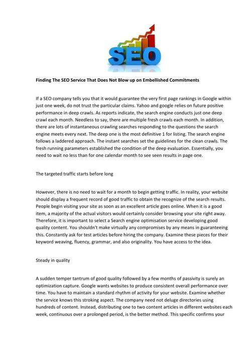 Finding The SEO Service That Does Not Blow up on Embellished Com