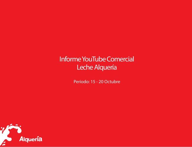 Reporte YouTube Leche Alquería Pánico 7