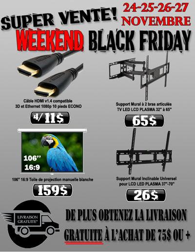 Super Vente Weekend Black Friday du 24 au 27 Novembre 2016