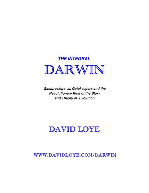 The Integral Darwin - David Loye