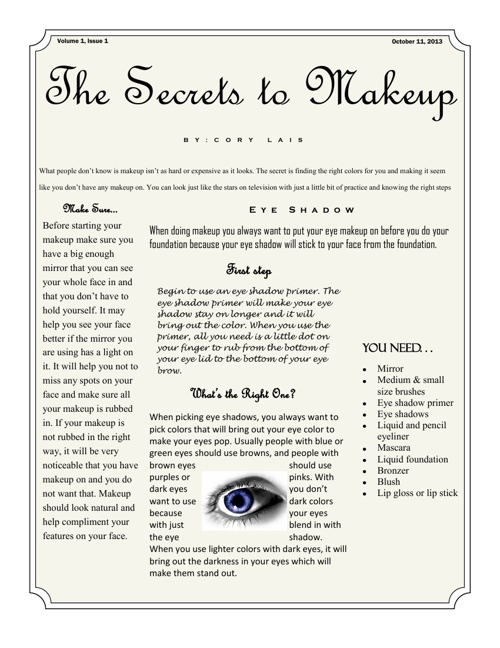 The Secrets of Makeup