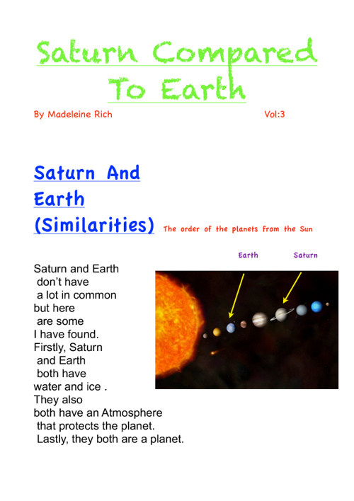 Gr. 5-2: A Collection of Space and Earth articles