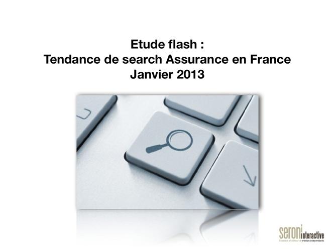 Etude : Tendance de search Assurance en France  Janvier 2013