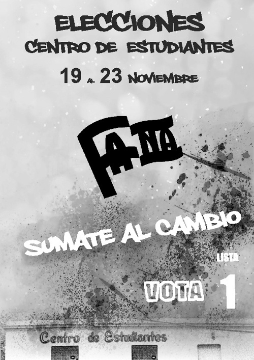 Plataforma 2012 -  FANA - Lista 1