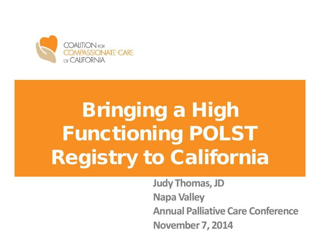 POLST Registry--Nov 7