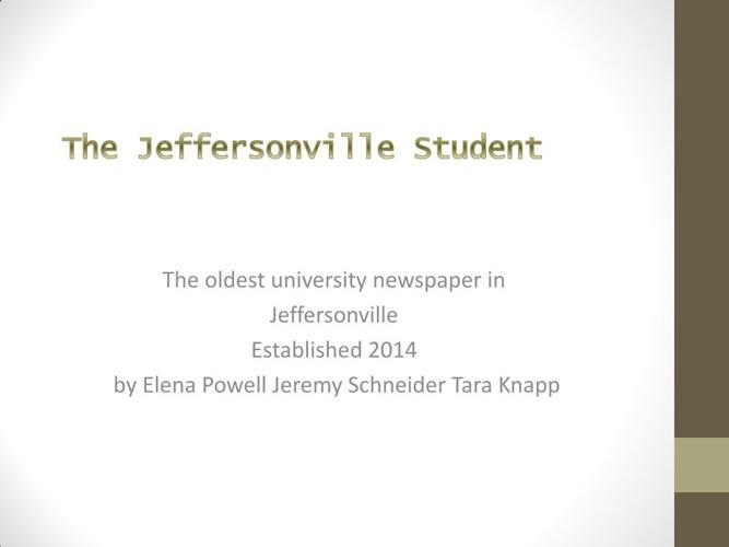 The Jeffersonville Student