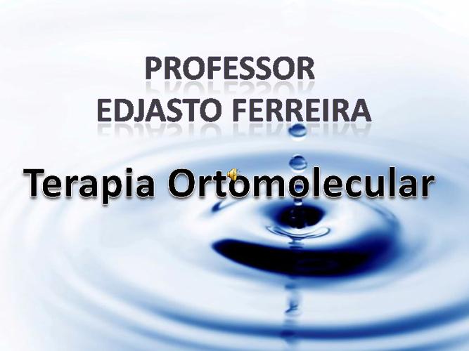 """pH da água """" Terapia Ortomolecular"""""""