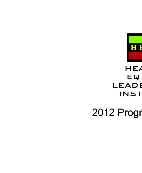 HELI 2012 Program Agenda