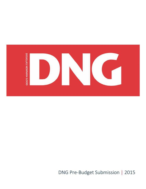 DNG Pre-Budget 2015 Submission