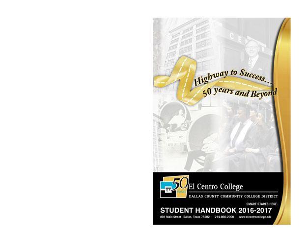 El Centro College Student Handbook 2016-2017