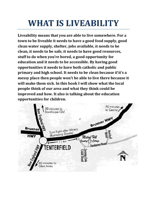 The Liveability of Tenterfield