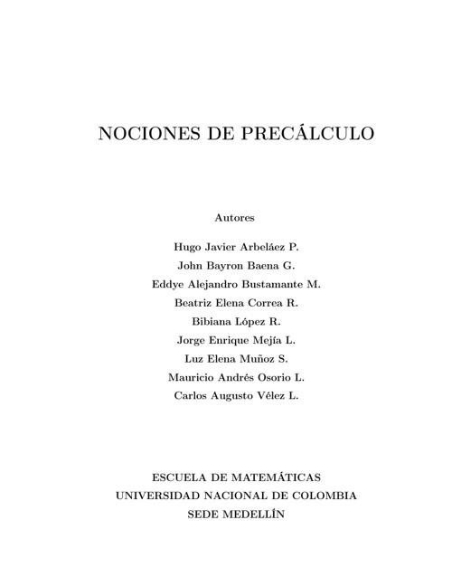 NOCIONES DE CÁLCULO