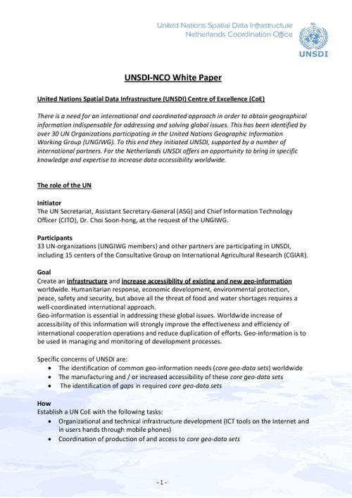UNSDI-NCO White Paper
