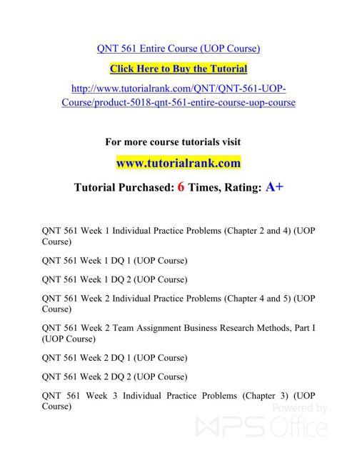 QNT 561 Potential Instructors / tutorialrank.com