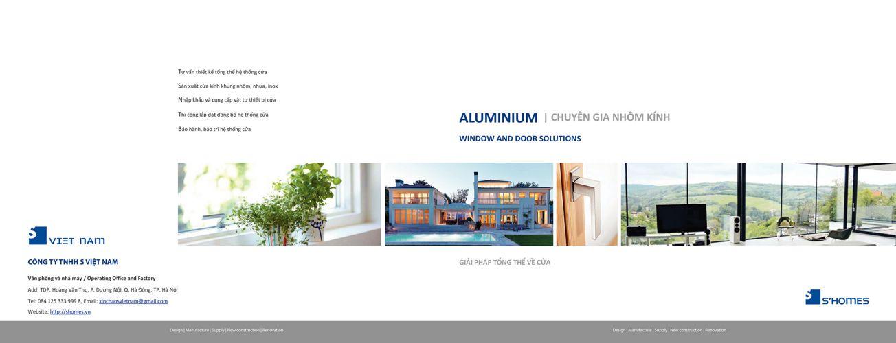 Shomes Catalogue-aluminium window and door