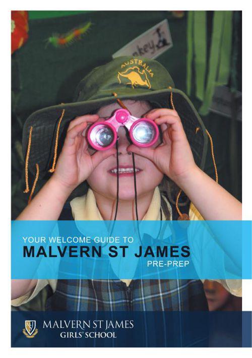 MSJ Welcome booklet Pre-Prep 2015 AW