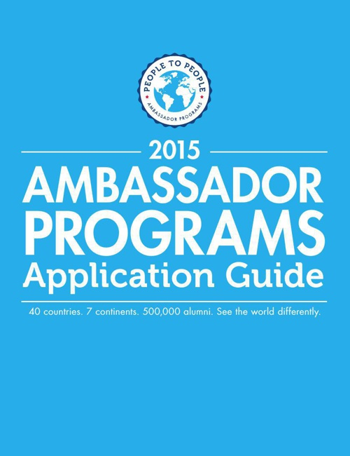 2015 Student Ambassador Application Guide