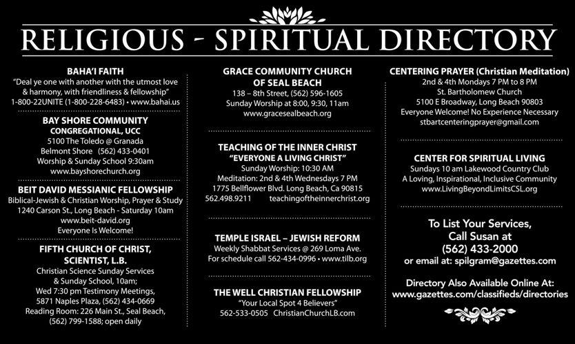 Religious Directory  |  February 24, 2017