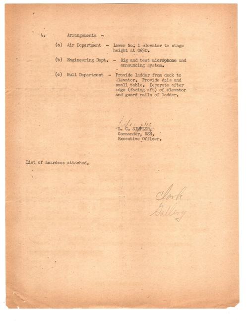 09 SEP 1945 COMMENDATION ROSTER