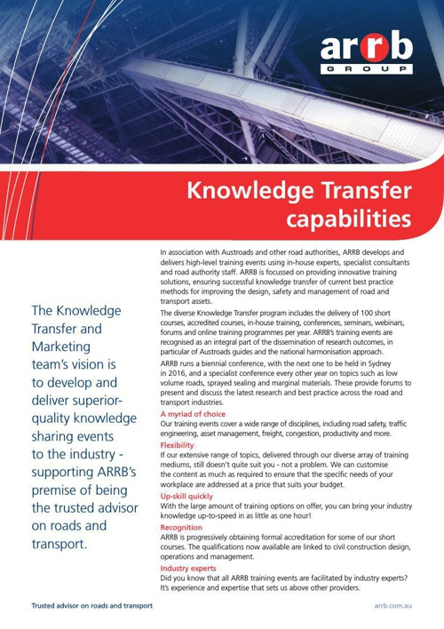 Knowledge Transfer capabilities