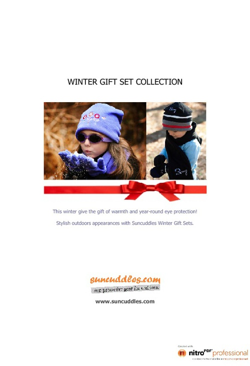 Winter Gift Sets by suncuddles.com