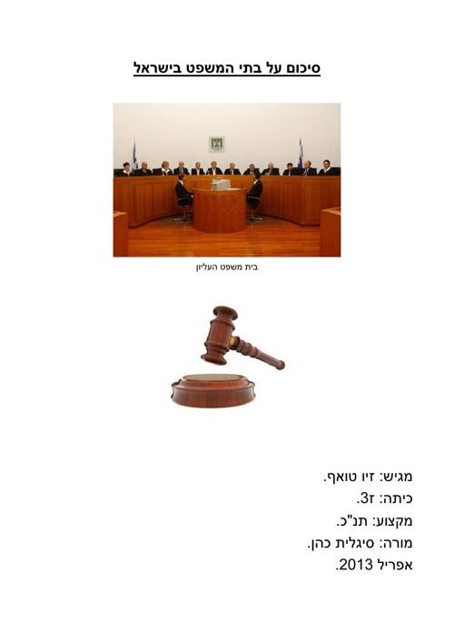 בתי המשפט בישראל - זיו טואף