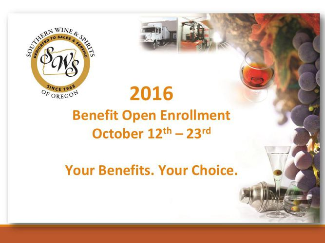 2016 Open Enrollment Changes (SWS OR)