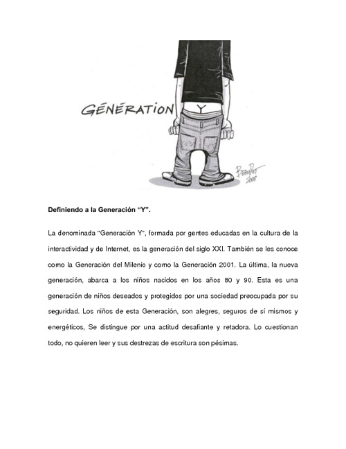 """Generación """"Y"""""""