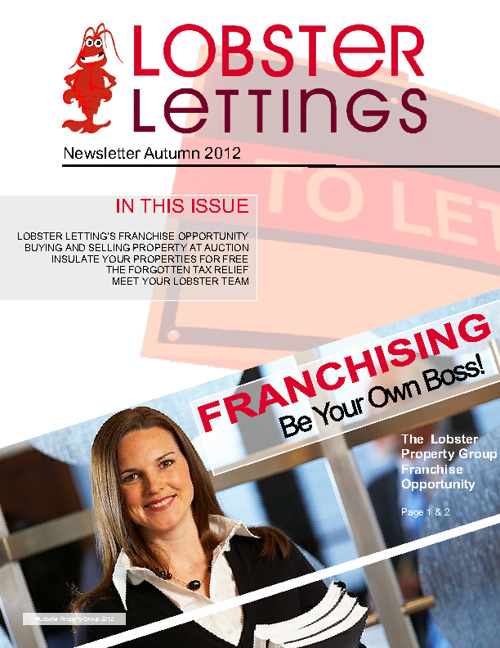Lobster Letings Newsletter October 2012