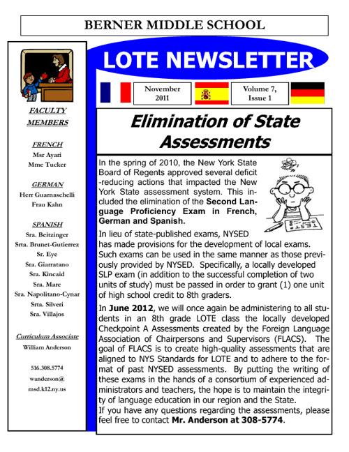 LOTE Berner Newsletters