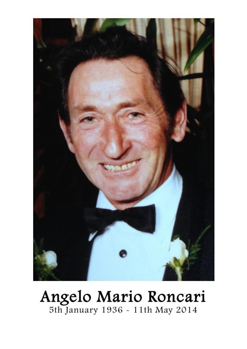 4 Order of Service for Angelo Mario Roncari