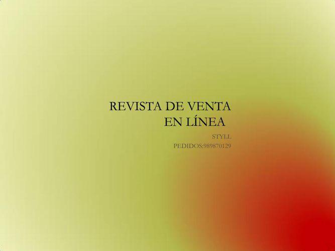 REVISTA DE VENTA EN LÍNEA