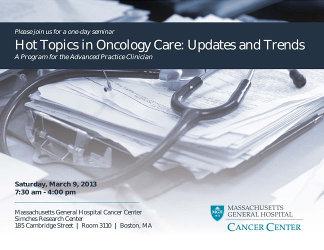 Hot Topics in Oncology Care: Updates and Trends
