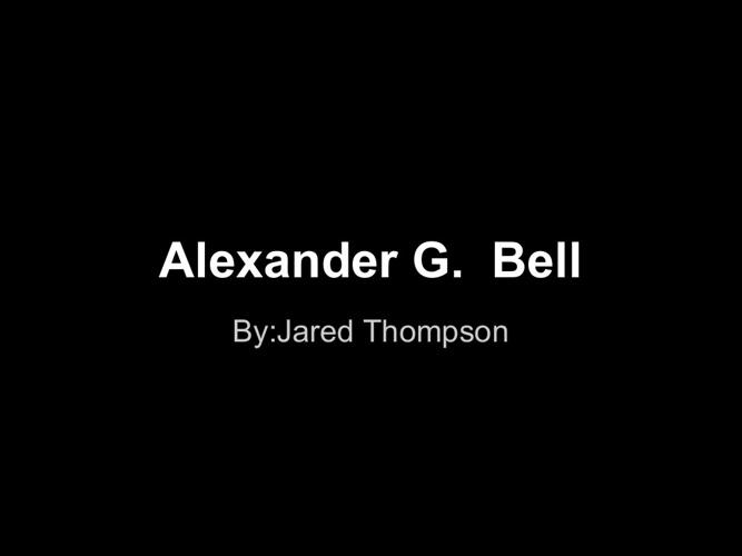 P1 JThompson Bell