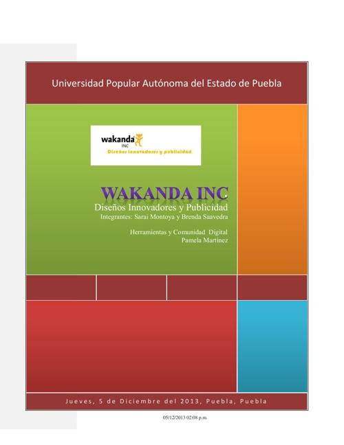 Proyecto Final: Wakanda INC