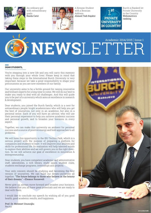 BURCH - Newsletter Issue 1