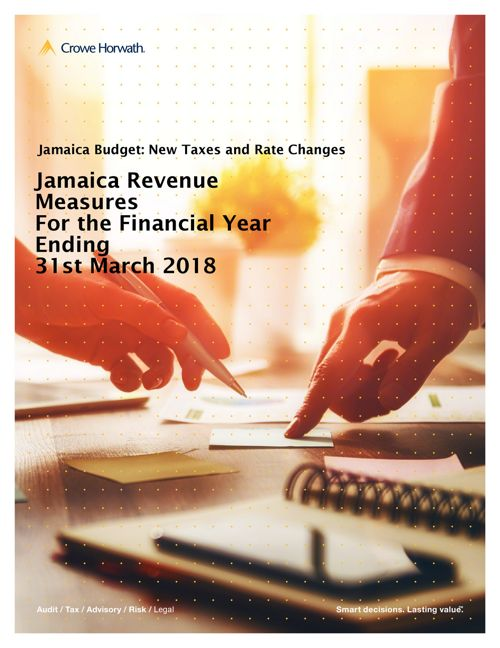 Jamaica Revenue Measures to Finance Budget  2017 to 2018
