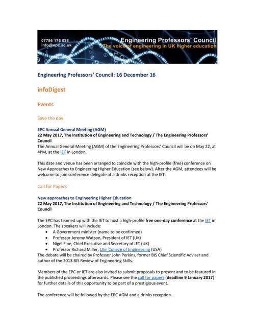 Engineering Professors' Council infoDigest 16 Dec 16