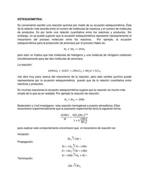 Conceptos básicos de Cinética