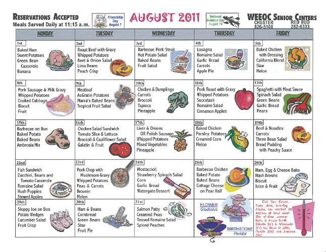 WEEOC Senior Calendars