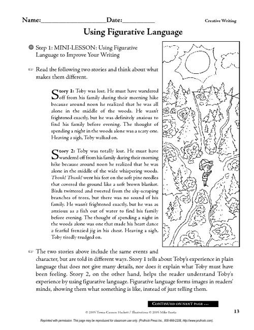 Using Figurative Language to Improve Writing