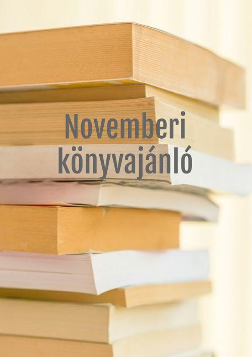 Novemberi könyvajánló