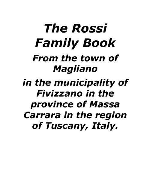 Copy of The Rossi Family