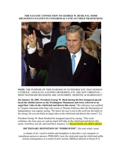 9/11, Bush and Child Trafficking