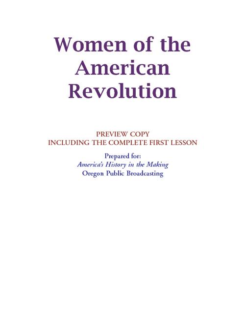 American Revolution Women