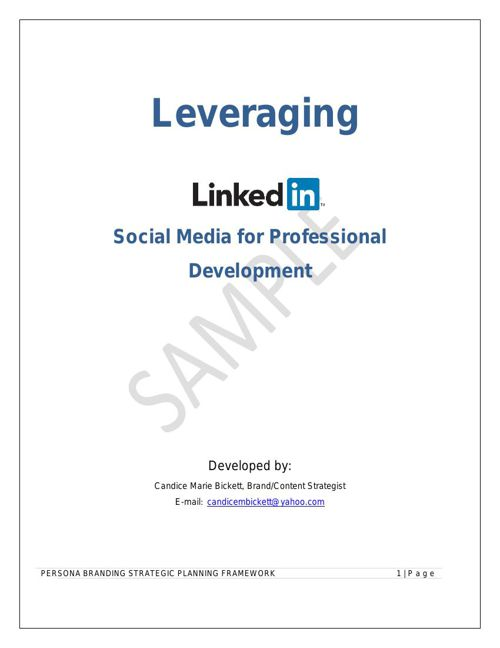 Leveraging Social Media for Professional Development - LinkedIn