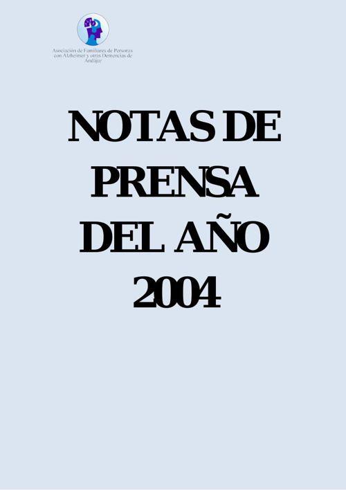 Notas de Prensa del 2004