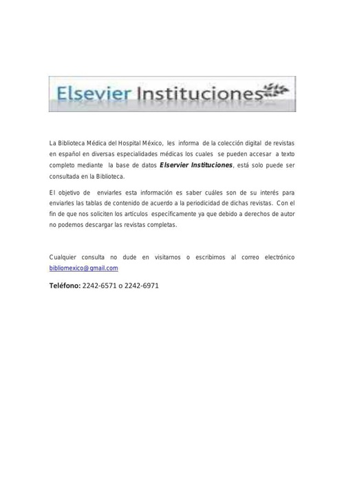 Elservier Instituciones
